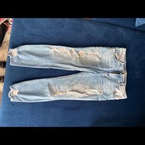 Zara ripped jeans destroyed denim size 30